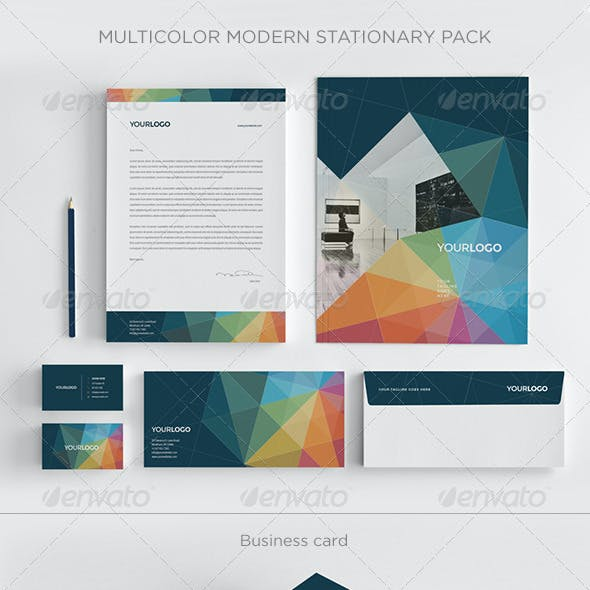 Multicolor Modern Stationery Pack