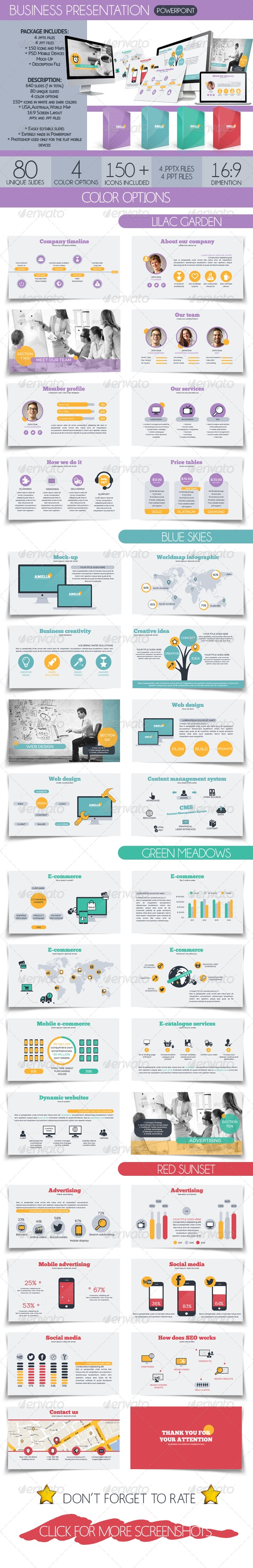 Amelia Business Presentation - Business PowerPoint Templates