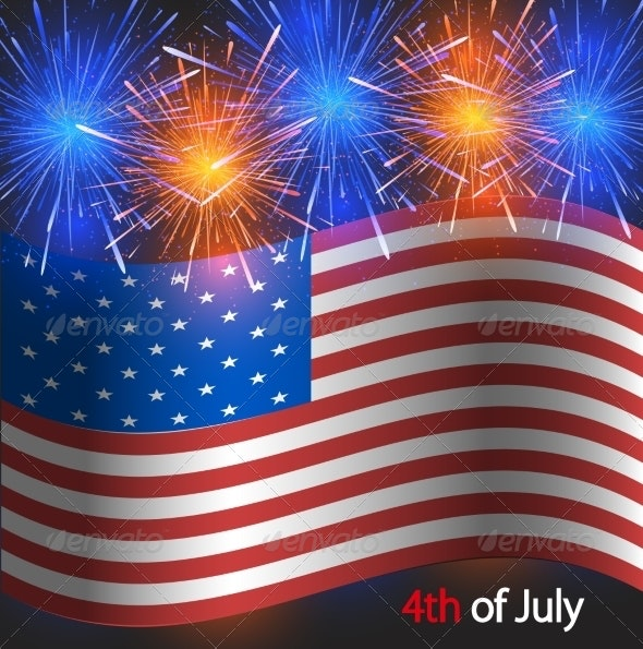 Vector 4th of July Background. Independence Day - Miscellaneous Seasons/Holidays