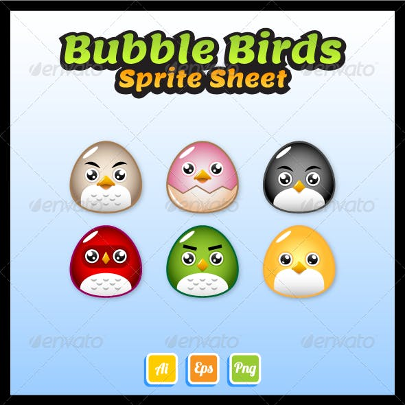 Bubble Birds Sprite Sheet