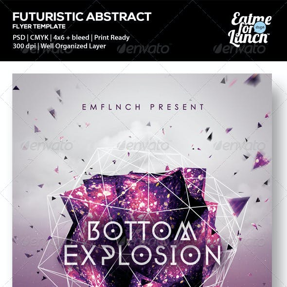 Futuristic Abstract Music/Gigs/Club Flyer