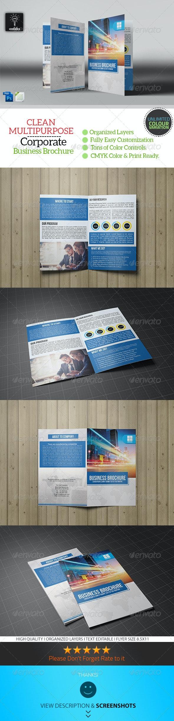 Business Brochure Bifold Template Vol03 - Corporate Brochures
