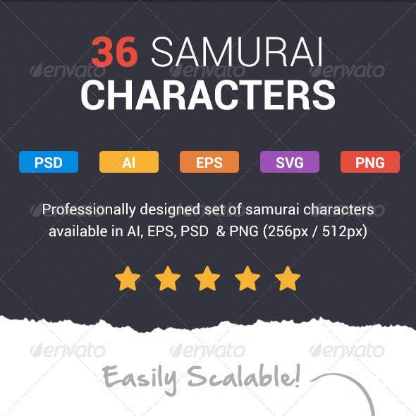 36 Fresh Samurai Characters
