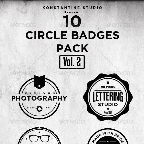 Circle Vintage Badges Pack (Vol.2)