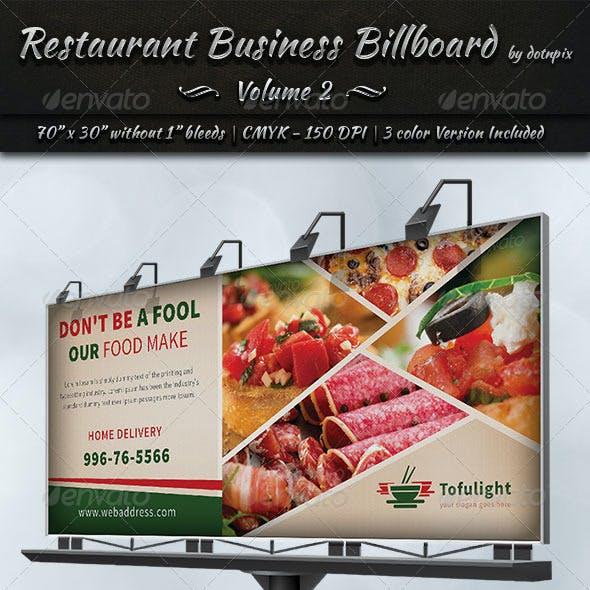 Restaurant Business Billboard | Volume 2