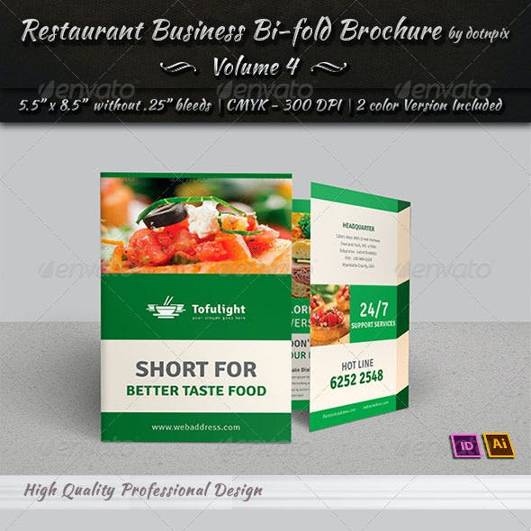 Restaurant Business Bi-Fold Brochure | Volume 4