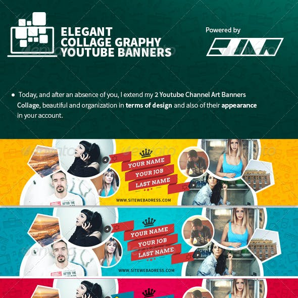 Elegant Collage Youtube Banners