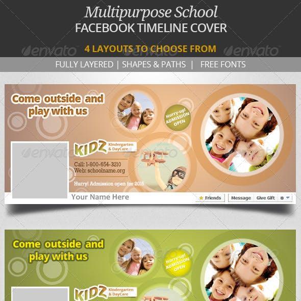 Multipurpose School Facebook Timeline Cover