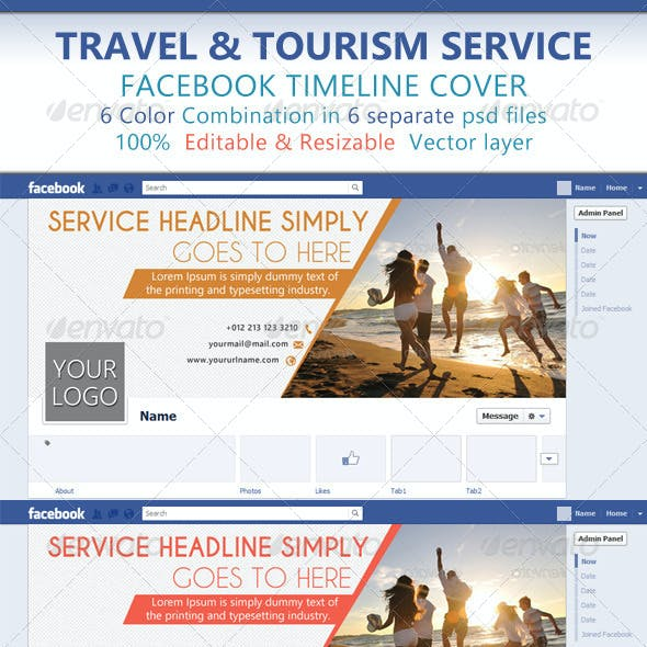 Travel & Tourism Service Facebook Timeline Cover