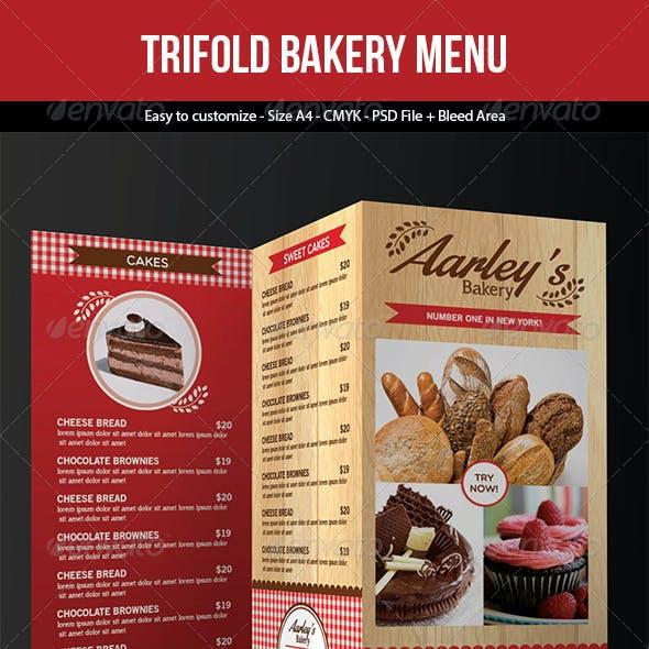 Trifold Bakery Menu