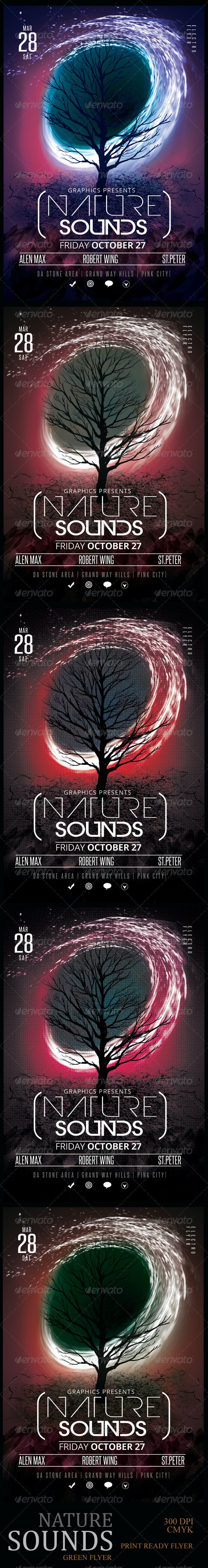 Nature Sounds Party Flyer Template - Clubs & Parties Events