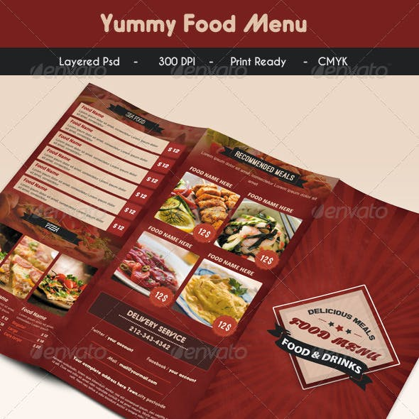 Yummy Food Menu