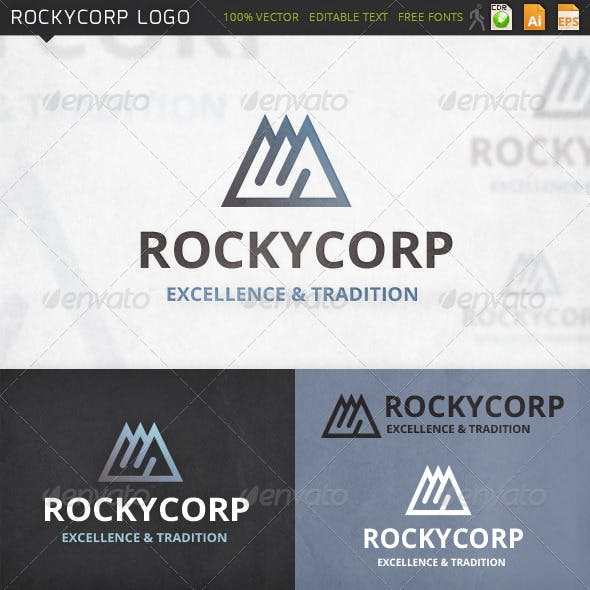 Rockycorp Mountains Logo Template