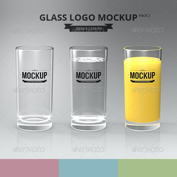 Glasses Logo Mockup Pack 2