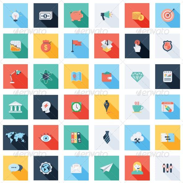 47 Business & SEO Icons Set