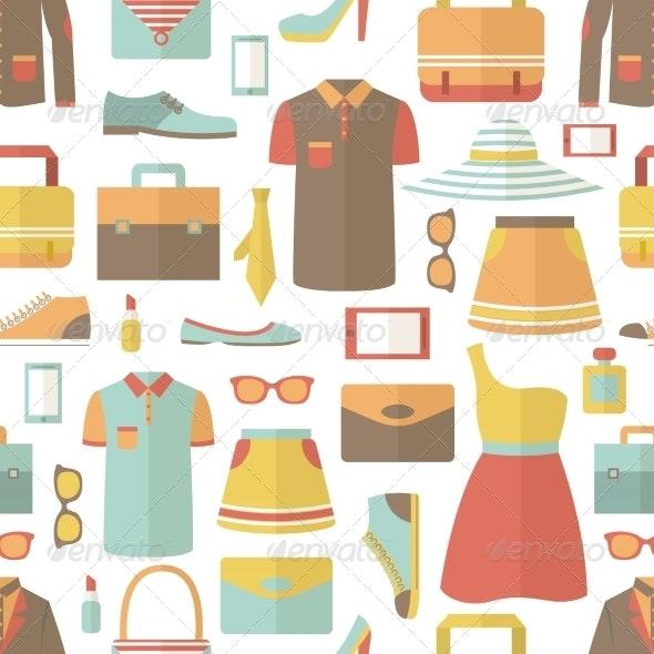 Shopping Seamless Pattern - Backgrounds Decorative