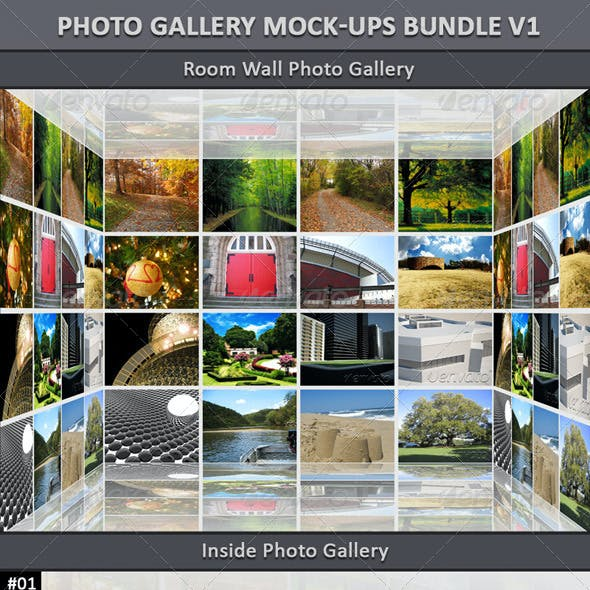 Photo Gallery Mock-Up Bundle V1