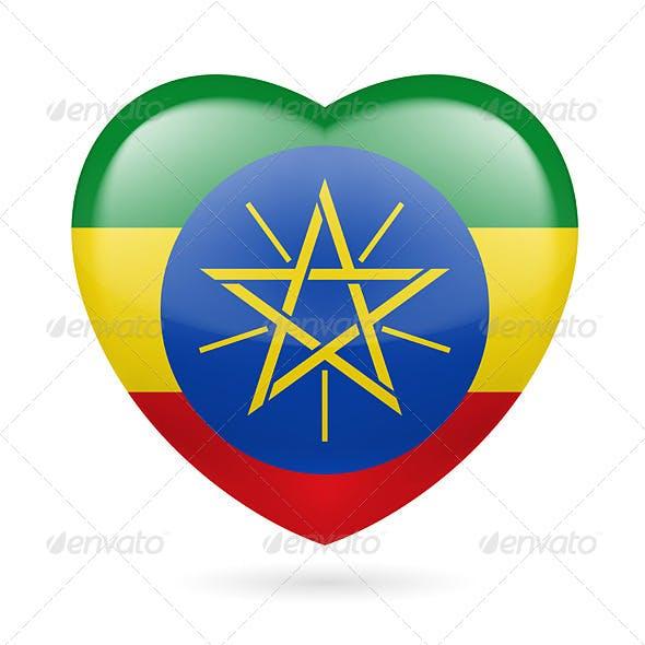 Heart Icon of Ethiopia