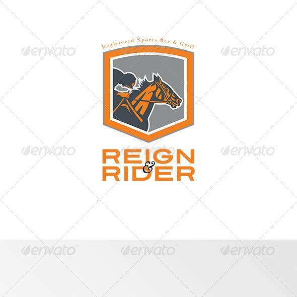 Reign Rider Sports Bar Logo