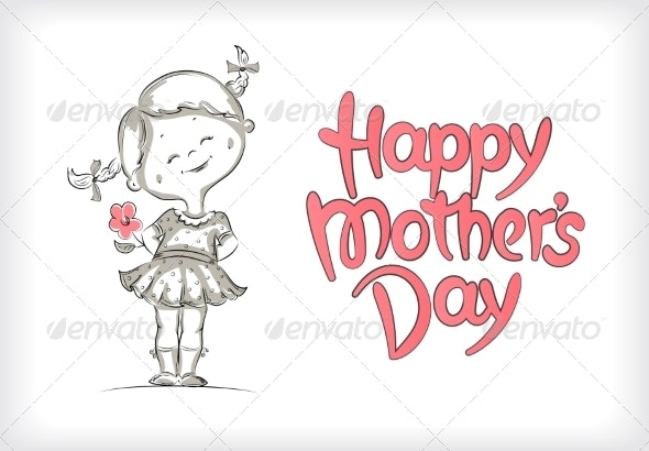 Happy Mother's Day Hand-Drawn Lettering - Miscellaneous Seasons/Holidays