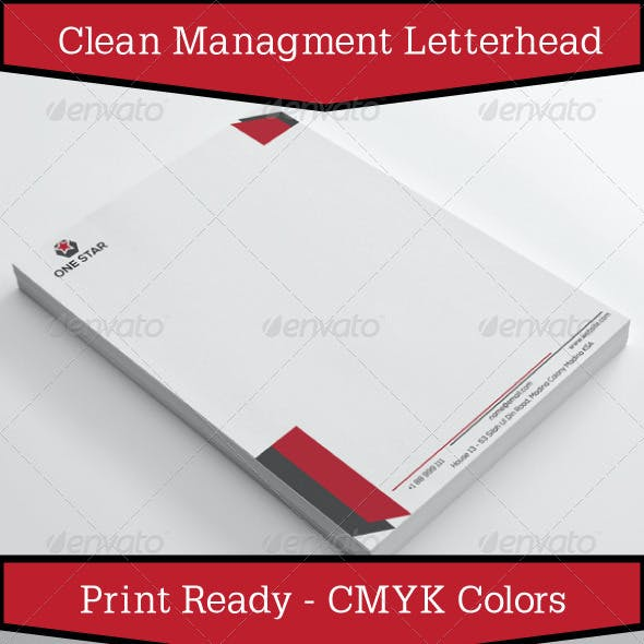 Clean Management Letterhead