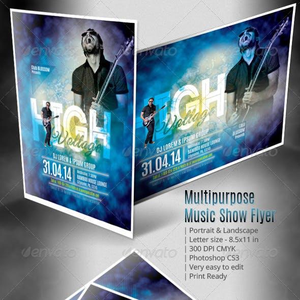 Multipurpose Music Show Flyer