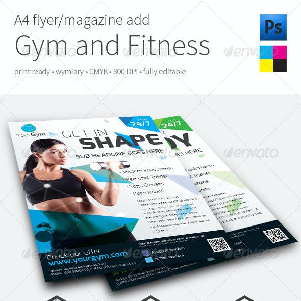 Gym Fitness A4 Flyer