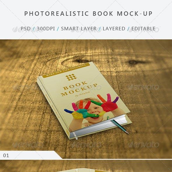 Photo realistic Book Mock-up - V:01