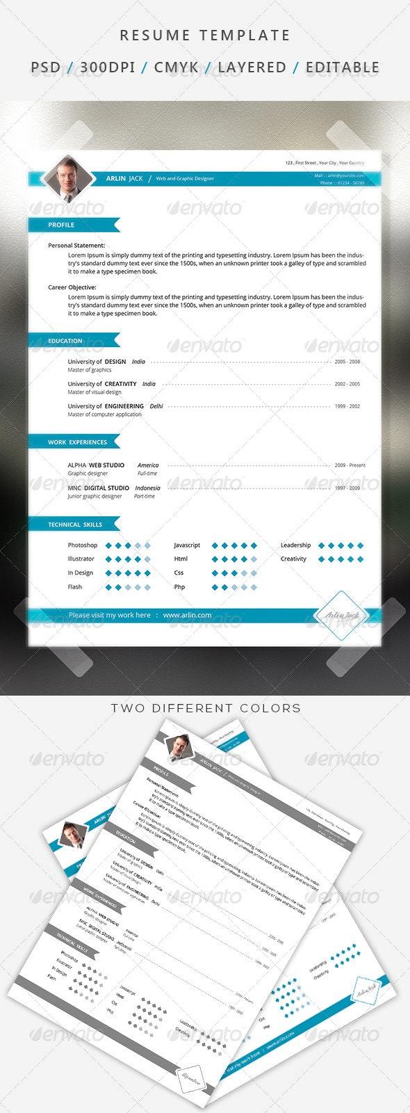 Professional resume/cv  - Resumes Stationery
