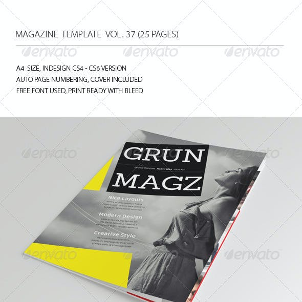 25 Pages Grunge Magazine Vol37