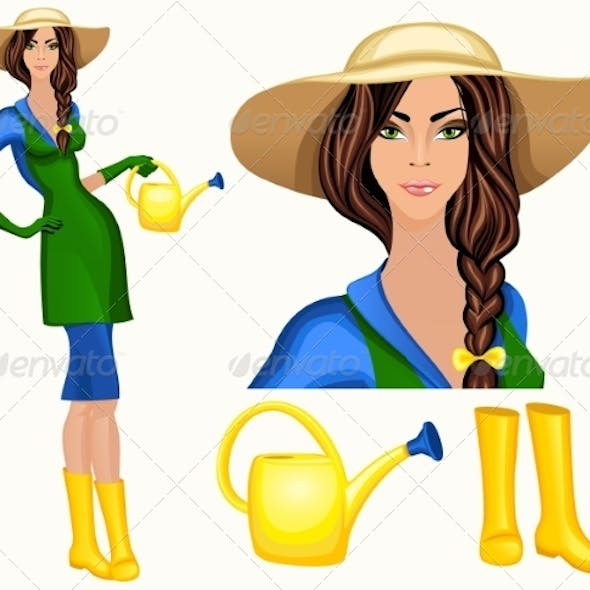 Young Woman Garden Worker