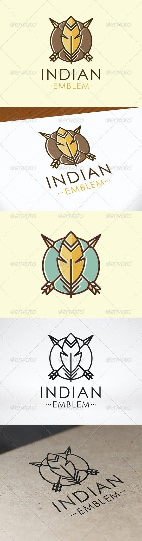 Indian Emblem Logo Template - Crests Logo Templates
