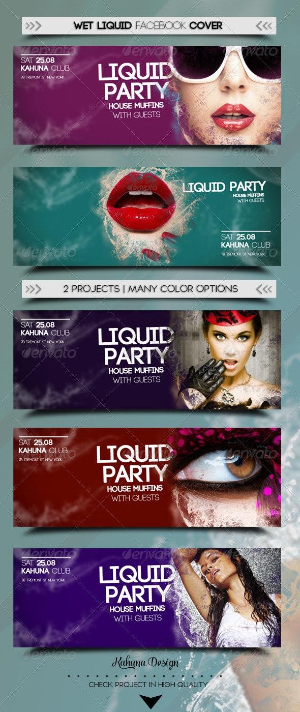 Wet Liquid Fb Cover - Facebook Timeline Covers Social Media