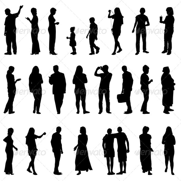 Silhouettes of Beautiful Mens and Women