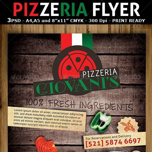 Pizzeria/Italian Restaurant Ad Flyer Template