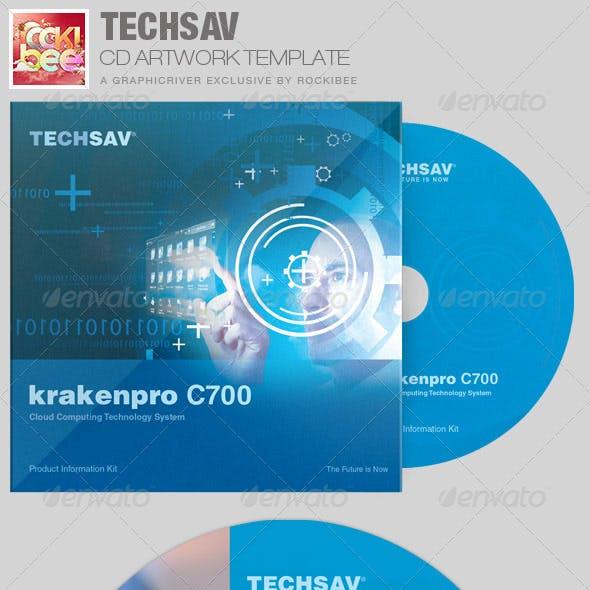 Techsav Corporate CD Artwork Template
