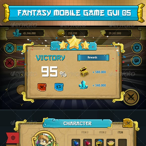 Fantasy Mobile Game Gui Pack 05