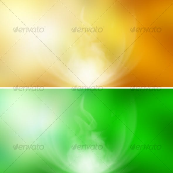 Abstract Backgrounds (yellow, green, blue)