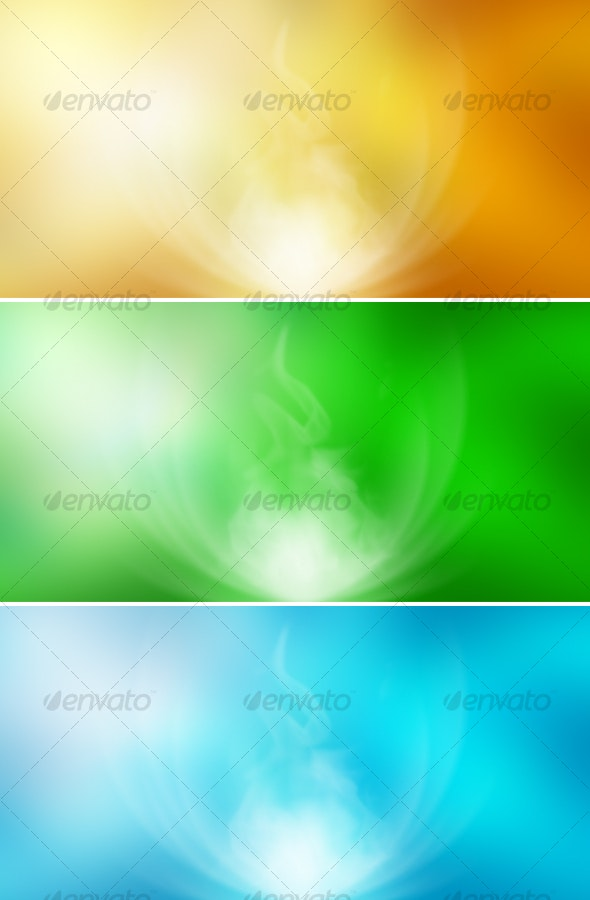 Abstract Backgrounds (yellow, green, blue) - Abstract Backgrounds