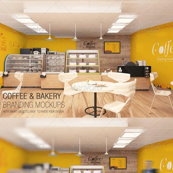 Coffee & Bakery Branding Mockups