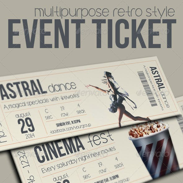 Multipurpose retro ticket