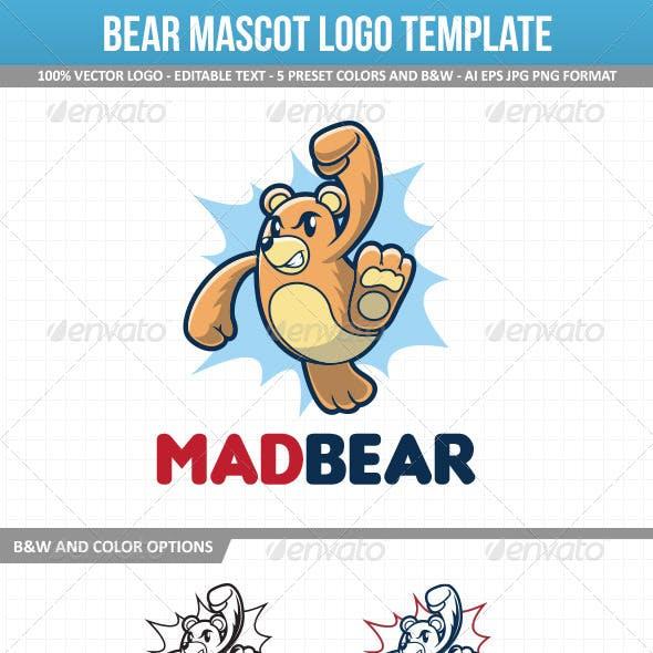 Bear Mascot Logo Template