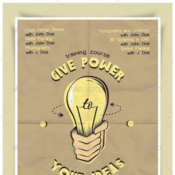 Give Power To Your Ideas Flyer