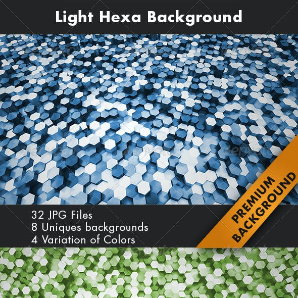 Light Hexa Background