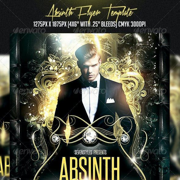 Absinth Flyer Template