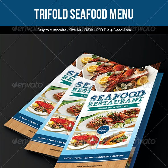 Trifold Seafood Menu