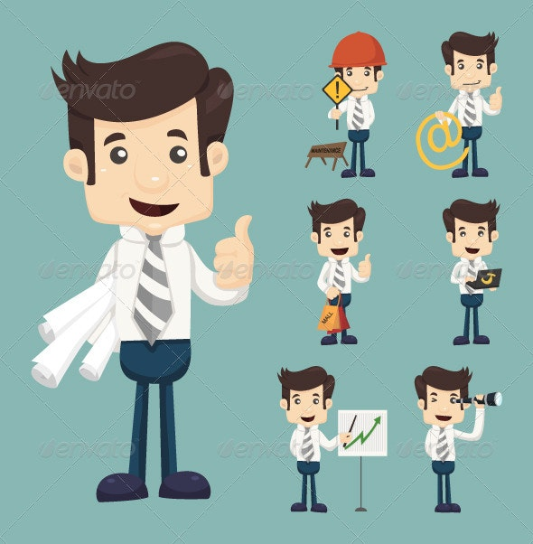 Businessman Working - Concepts Business