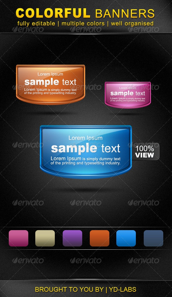 Colorful Banners - Miscellaneous Web Elements
