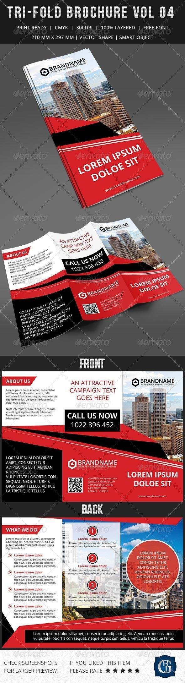 Corporate Multipurpose Trifold Brochure Vol 4 - Corporate Brochures