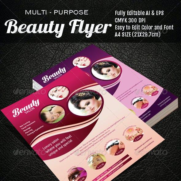 Multi Purpose Beauty Flyer